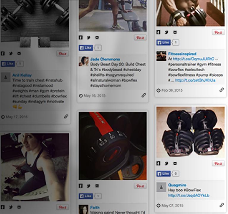 Bowflex on social media