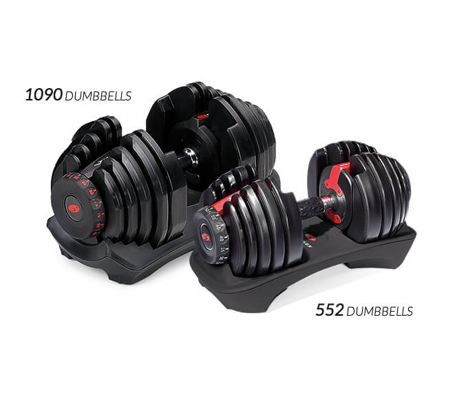 Compare the two SelectTech Dumbbell models