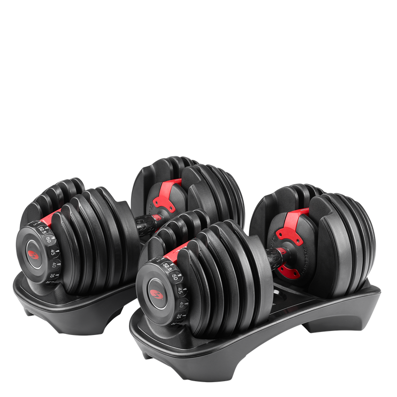 SelectTech 552 Adjustable Dumbbells - expanded view