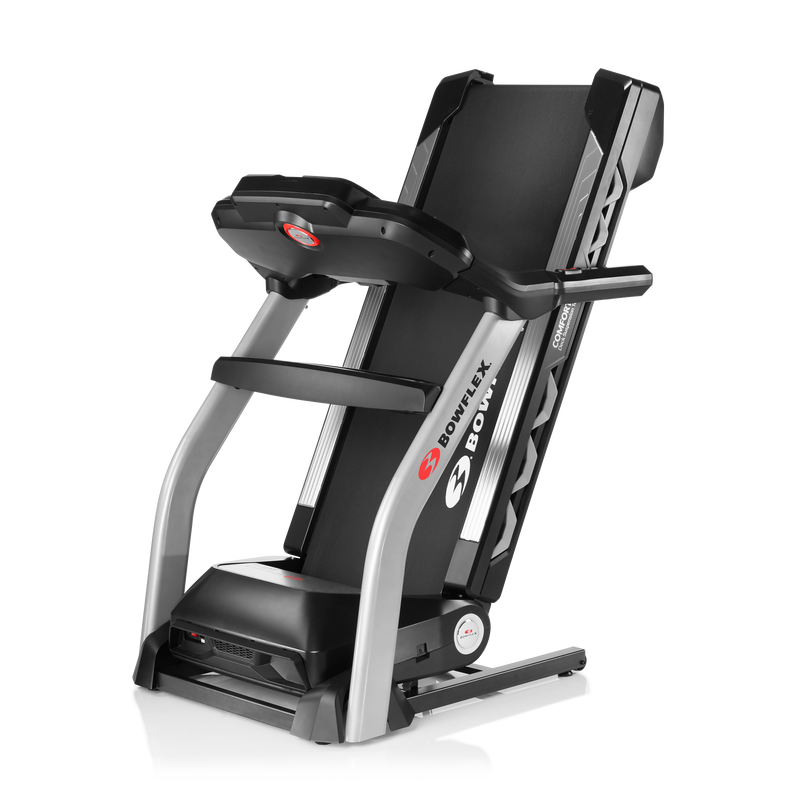 BXT216 Treadmill Folded for Easy Storage - expanded view