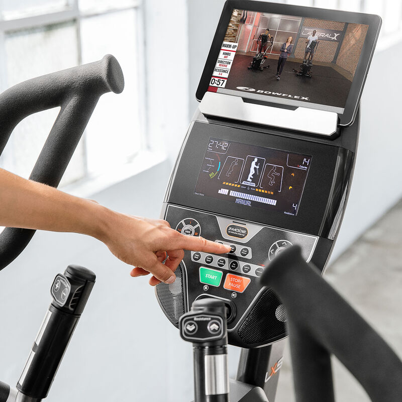 Bowflex LateralX LX5 Console - expanded view