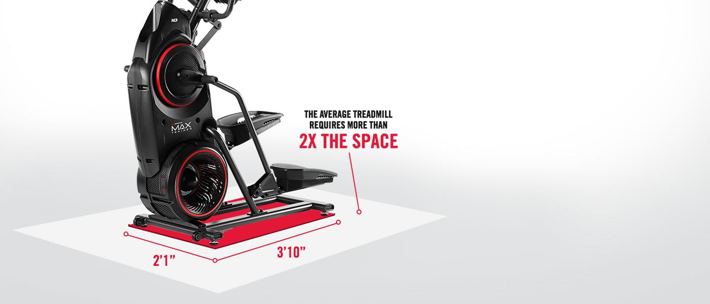Bowflex Max Trainer has a compact design.