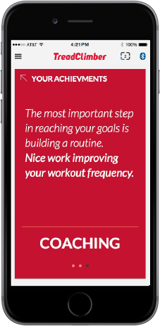 TreadClimber App - Digital coaching and encouragement