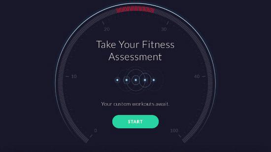 Fitness Assessment - App Screenshot
