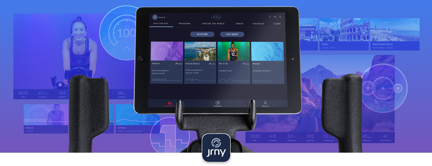 JRNY connectivity with C6 Bike