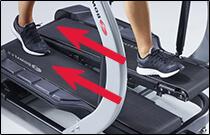 Walk like on a treadmill.