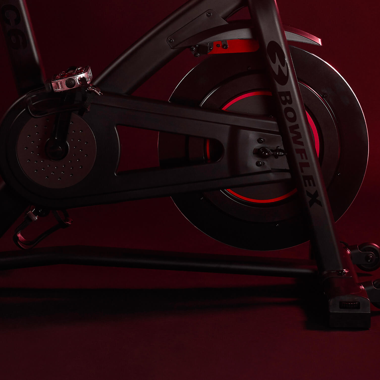 A Bowflex C6 Indoor Cycling Bike.