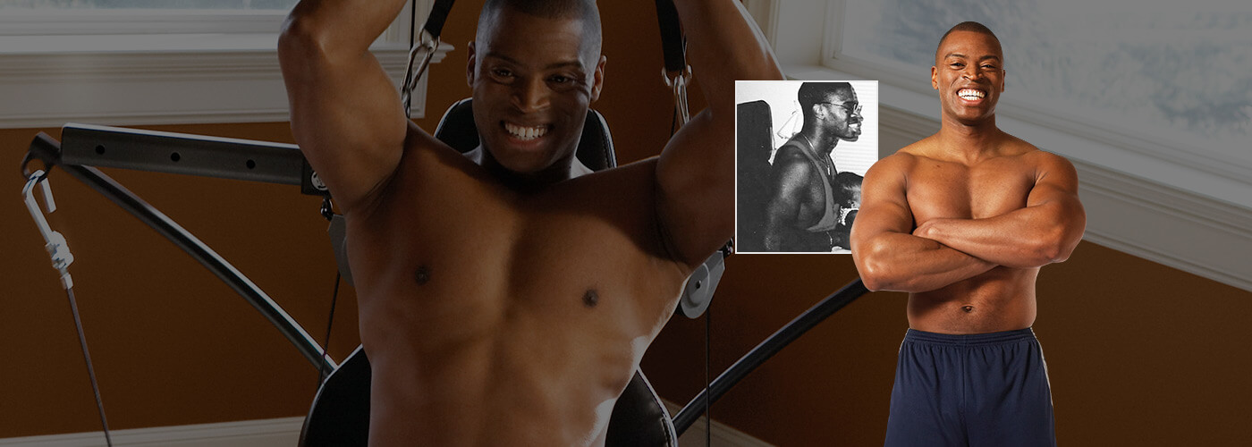 John was able to gain muscle with a Bowflex gym