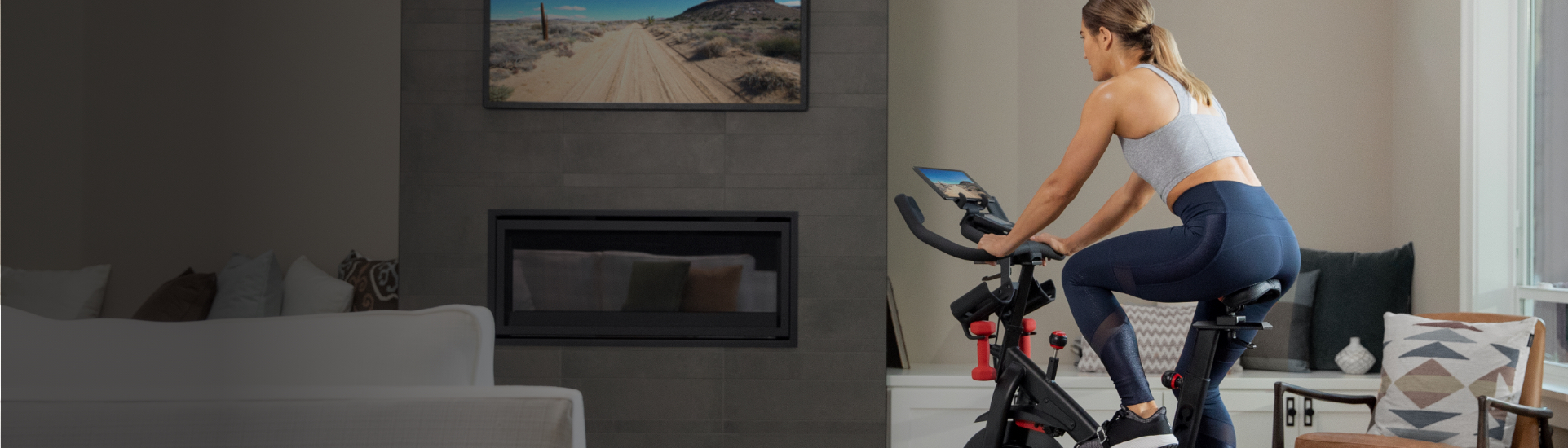 Connect the C6 exercise bike with world-class cycling apps