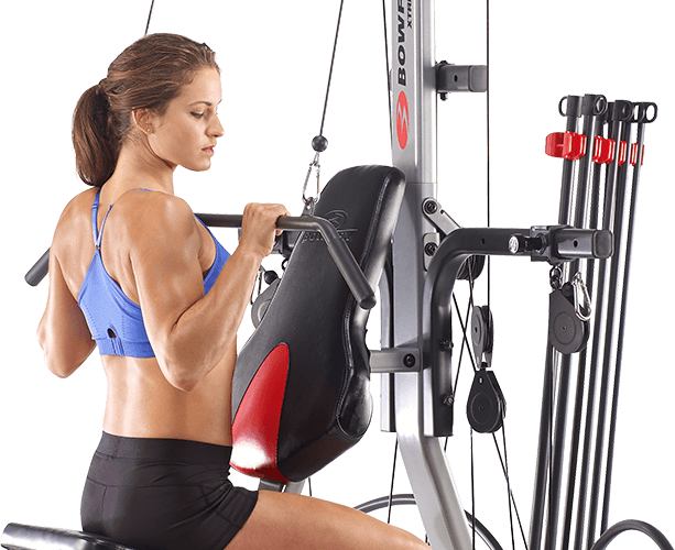 Lat Pull Exercise on a Bowflex Home Gym