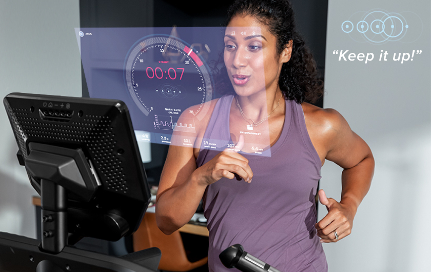 Friendly virtual coaching while working out