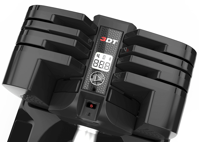 SelectTech 560 dumbbells come with integrated Bluetooth tracking and sync with the Bowflex 3DT App